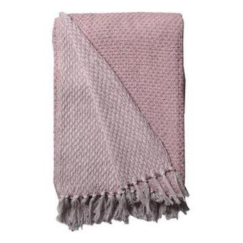 Plaid Nets-Dusty Rose/White
