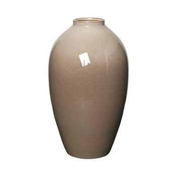 VASE 'INGRID' L KERAMIK SIMPLE TAUPE/BROWN