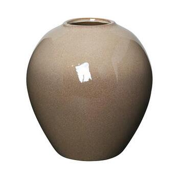 VASE 'INGRID' M KERAMIK SIMPLE TAUPE/BROWN